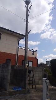 工場電源引込み工事