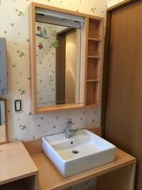 2階の洗面台取り替え