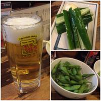 飛鳥(豊田市)で、焼き鳥ビール!