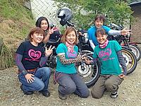 """""""女もカワサキ""""だからKAZEレディースミーティング2015in河口湖"""