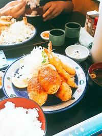 きらく亭さんのカニクリームコロッケ定食♪(豊田市)