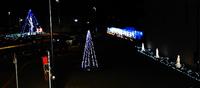 猿投駅のライトアップ 2014/11/17 10:06:02