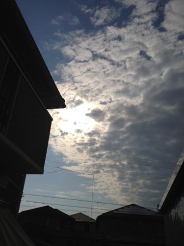 30分間の天体ショー(寝起き)2012.5.21 金環食日記