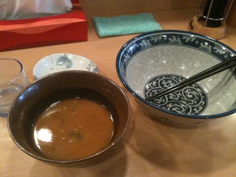 中村屋のつけ麺(大垣)うす味好きのひと、甘く見てませんか??