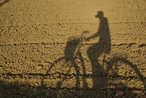 自転車こぎ 時々 かめらパシャ