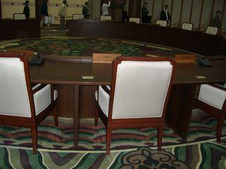 小泉元首相が座った椅子