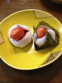 苺大福と苺さくら餅(ホワイトデーのおすそ分け1)