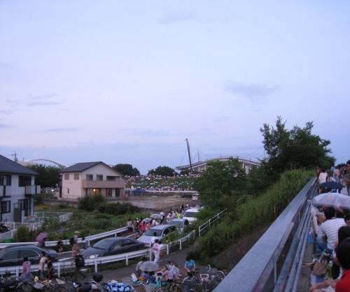 去年、久澄橋からはこんな眺めでした。