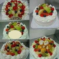デコレーションケーキとシフォンケーキ♪
