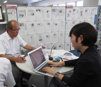 白井石鹸の白井さんと専門家相談員コピーライター石原さん