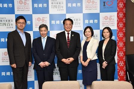 f-Bizセンター長・小出さんと共に岡崎市長を訪問いたしました