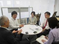 日本貿易振興機構(ジェトロ)名古屋貿易情報センター、アドバイザーの皆様と打ち合わせ
