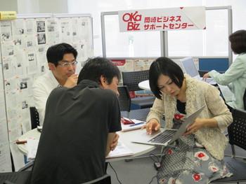 岡崎のコーヒー専門店「豆蔵」の柴田さんが新商品開発の相談にみえました