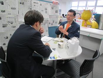新商品企画「オカザえもん米」・六名米穀店の長澤さん