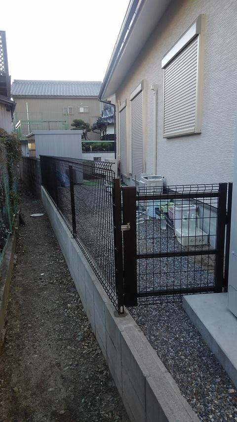 フェンス完了