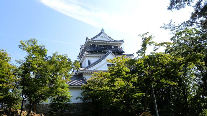 梅雨の晴れ間の岡崎城