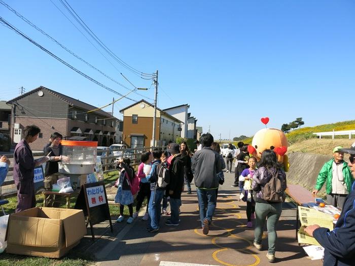 なのはな遊歩道 秋のふれあいウオーク祭り