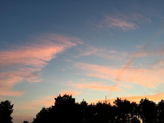 夏至の日の夕焼け