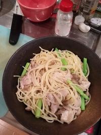パスタ丼 シチュー味