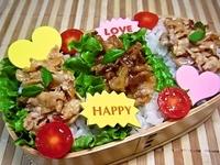 11/17 ど~んと2種のバラ肉deサラダ丼弁当☆ 2012/11/17 09:12:49