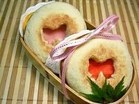 11/19 2色リボンのマフィンdeハムチーズサンド弁当☆ 2012/11/19 14:01:05