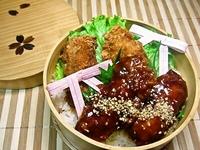 11/29 ご飯が進む2種のソースdeカキフライ丼弁当☆ 2012/11/29 08:37:01
