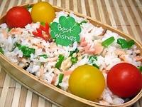 2/4 鮭・ほうれん草・ごまde彩り綺麗な混ぜご飯弁当☆ 2013/02/04 10:29:06