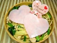 2/6 バレンタイン*☆かわぃッ*☆ハ~トの和風スパ弁当☆
