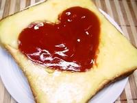 2/13 バレンタインかわぃッハ~トのトースト弁当☆