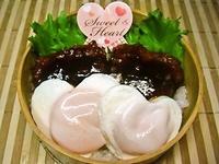 2/14 バレンタインかわぃッハ~トのロコモコ丼弁当☆