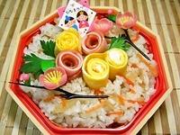 3/2 ひな祭り週間☆★*:.。☆かわぃッ雛ちらし弁当☆