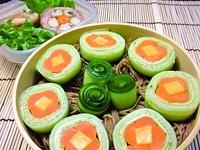 7月6日 お花きゅうりde韓国冷麺のお弁当☆ 2011/07/06 07:15:00