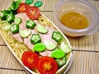 8月1日 もも肉のチャーチューde冷し味噌冷麺のお弁当☆ 2011/08/01 07:00:04