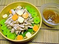 8月10日 胡麻と黒胡椒入りささみdeバンバンジ~冷麺弁当☆ 2011/08/10 06:57:43