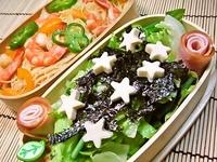 10月4日 海老の焼きビーフンと☆型麩de韓国風サラダ弁当☆ 2011/10/04 06:13:03