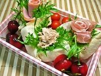 6月4日 ふんわり食パンde可愛いカップサンドのお弁当☆ 2012/06/04 06:55:21