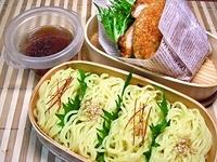 6月6日 中華つけ麺と焼きおにぎりdeライスバーガー弁当☆ 2012/06/06 06:52:45