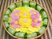 6月27日  ☆カワイィ☆お花の冷やし中華のお弁当☆ 2012/06/27 07:19:45
