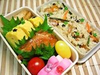 6月28日  ☆カワイィ☆和風おかずと山菜おこわのお弁当☆ 2012/06/28 06:59:07