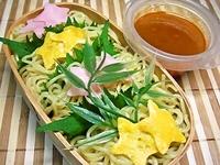 7月3日 七夕週間☆可愛い笹の葉と星のつけ麺弁当☆ 2012/07/03 07:38:36