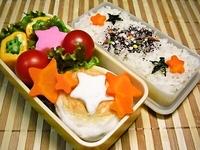 7月5日 七夕週間☆カワイィ☆星☆のおかずのお弁当☆ 2012/07/05 08:07:12