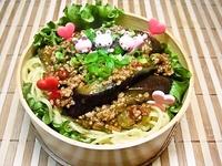 7月9日 簡単☆挽肉となすのピリ辛炒めde麺のお弁当☆ 2012/07/09 08:31:21