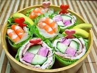 7月17日 さっぱり野菜たっぷり生春巻きのお弁当☆ 2012/07/17 07:29:22