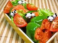 7月19日 夏野菜たっぷり☆ピーマンのチキンライス詰め弁当☆ 2012/07/19 07:00:57