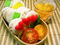 7月20日 ゚・*☆カワイィ☆ハートサンドイッチのお弁当☆ 2012/07/20 08:13:13