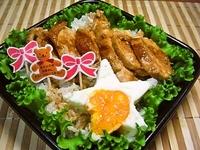 7月30日 星の目玉焼きde照り焼きチキン丼弁当☆ 2012/07/30 08:11:08