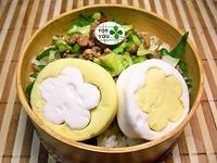 8月6日 夏のキャベツ入りピリ辛そぼろ丼のお弁当☆ 2012/08/06 07:47:36