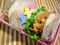 8月20日 さっぱり夏味のライスバーガーのお弁当☆ 2012/08/20 08:52:45