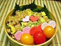 8月21日 ピリ辛鶏挽肉で発芽玄米炒飯のお弁当☆ 2012/08/21 08:37:23