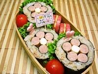 10/1 ★かわぃッ●´ з`●お花海苔巻きおにぎり弁当☆ 2012/10/01 08:21:10